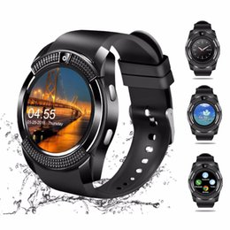 $enCountryForm.capitalKeyWord Australia - V8 smart watch waterproof phone Support SIM card Mobile phone for Android iPhone Bluetooth smart watch mini camera smartphone