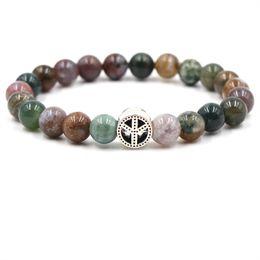 $enCountryForm.capitalKeyWord Australia - 8MM Lava Stone Kallaite Tiger's Eye Malachite Amazon Stone Bead Bracelet For Women Jewelry