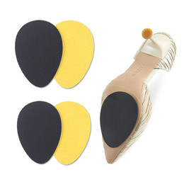 wholesale heel grips Canada - Anti-Slip Soles for Shoes Protector Women High Heel Sole Non Slip Sticker Rubber Grips Forefoot Outsoles Pad Insert