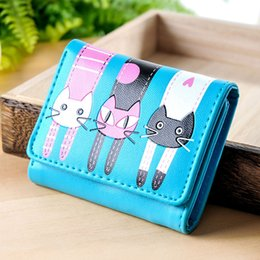 $enCountryForm.capitalKeyWord Australia - Hot Women Coin Purse PU Leather Cartoon Cat Card Holder Ladies Casual Clutch Money Bag Short Wallet BVN66