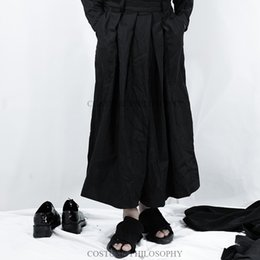 flattering plus size clothes Canada - 27-44 2018 Men's clothing GD Hair Stylist fashion Catwalk Retro Wide leg pants loose casual fold Culotte plus size costumes