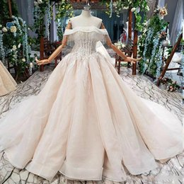 short ball gown wedding dresses sleeves Australia - princess ball gown wedding dresses bateau neck capped tassel short sleeve backless lace applique sequins Wedding Dresses abiti da sposa new