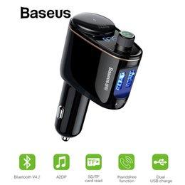 Audio Rock Australia - Baseus Bluetooth Mp3 Audio Player Fm Transmitter Xiaomi Handsfree Aux Modulator Dual Usb Car Mobile Phone Charger J190427