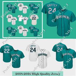 8367ebd8b Men's Seattle Jersey Mariners 24 Ken Griffey Jr. 22 Robinson Cano Baseball  Jerseys adult Embroidery Logos Stitched jerseys Cheap Sale