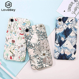 $enCountryForm.capitalKeyWord Australia - Lov Phone Case For Iphone X Xr Xs Max 8 7 6 6s Plus Cartoon Colorful Flowers Pineapple Leaves Hard Pc Back Cover Cases Coque