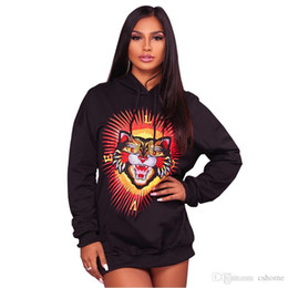 Long Products Australia - newautumn, winter, fashion, new products, European and American brands, printed long sleeved hooded ladies' long wear.