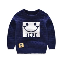 smile buttons UK - Smile Cartoon Baby Sweater For Girl Long Sleeve Baby Boy Sweaters Casual Outfit Angora Pullover Autumn Winter Baby Boys Clothing