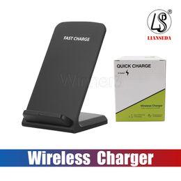 Vente en gros 2 bobines 10W chargeur sans fil rapide Qi Pad de charge sans fil pour Apple iPhone X 8 8Plus Samsung Note 8 S8 S7 tous les smartphones compatibles Qi