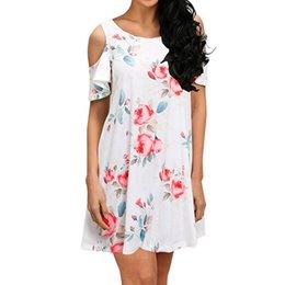 $enCountryForm.capitalKeyWord Australia - Hot Sale Casual Loose Mini Dress Women Summer Bohemian Floral Printed Dresses For Girls Lady Off Shoulder Beach Sundress #Zer