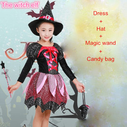 Costumes Clothes Australia - New 2019 Christmas Girls Party Dress Carnival Princess Dress Kids Halloween Clothes set show Children Cosplay Costume set