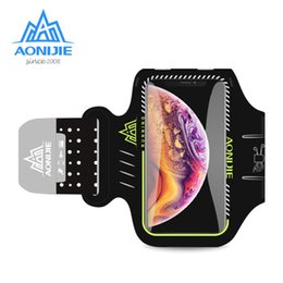 Gym Arm Cell Phone Holder Australia - AONIJIE Water Resistant Cell Mobile Phone Sports Running Armband Arm Bag Jogging Case Holder Cover For Fitness Gym Workout A892S