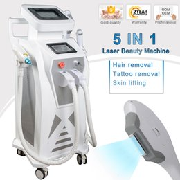 Laser rejuvenation treatment online shopping - 2018 stationary multifunction ipl laser rf face lift tattoo hair removal machine elight opt shr rf nd yag laser ipl