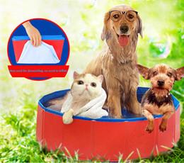 $enCountryForm.capitalKeyWord Australia - Practical Multi-Use Pet Baby Shower PVC Foldable Dog Paddling Pool Puppy Swimming Pool Bathing Washer Tub Tough Dog Bath Tubs