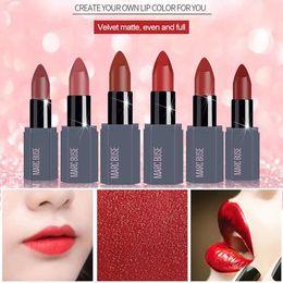 Orange Lipstick Matte Australia - 6 Colors Optional Matte Lipstick Long Lasting Non-stick Moisturizing Lips Cosmetic Sexy Red Matte Lipstick Fashion