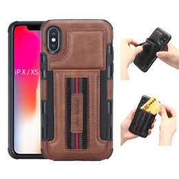 Wholesale 1PCS For iphone XR Case Leather Wallet case Anti drop phone Cover multi card slot brushed leat for iphone XS XS MAX Shell Phone Case