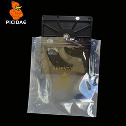 Wholesale 18x25cm Anti static print shield zipper ziplock plastic Packaging Bag Communication electronic Components Hardware Circuit IT IC Pcb board