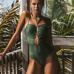 f5560c629f Sexy Bandage 2019 One Piece Swimsuit Women Green Push Up Swimwear Bodysuit  Swimming for Women Bathing Suit Beach Wear Monokini
