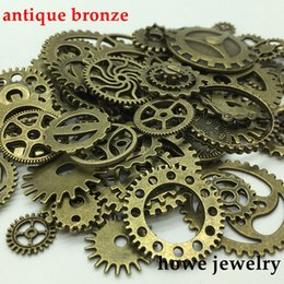 $enCountryForm.capitalKeyWord NZ - Fashion Jewelry Charms Mixed 100g steampunk gears and cogs clock hands Charm Antique bronze Fit Bracelets