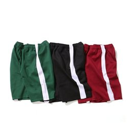 Loose Cotton Clothes NZ - Mens Summer Designer Shorts Pants Fashion Sports Cotton Beach Straight Type Relaced Drawstring Loose Basketball Clothing