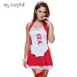 $enCountryForm.capitalKeyWord Australia - Hot Erotic Sexy Lingerie Women Temptation French Apron Cosplay Maid Servant Lolita Costume Babydoll Dress Sex Clothes