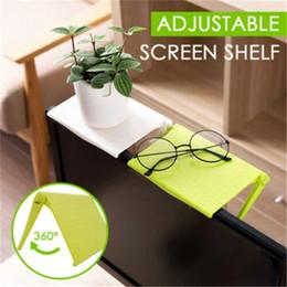 Folding Computer Tables Australia - Adjustable Screen Shelf Office Storage Rack Clip Computer Table Desk