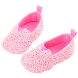 454c72f8e Knitted Baby Infant Shoes First Walkers Kids Girl Soft Sole Crib Toddler  Newborn Shoes Little Kid Anti-slip Drop Shipping  H5