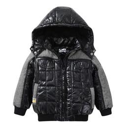 Boys Parkas Australia - Teenage Boys Winter Coat 2019 Kids Cotton Clothes Child Parkas Patchwork Thicken Warm Black Hoodies Jacket Outerwear 4-12 Years