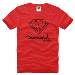 diamond supply tee shirts NZ - Mens Cotton New T Summer Shirts Fashion Short-sleeve Printed Diamond Supply Co Male Tops Tees Skate Brand Hip Hop Sport Clothes 3M16E