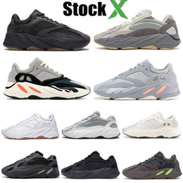 Black reflective faBric online shopping - 2019 vanta Reflective Inertia tephra mauve static geode solid grey Kanye West running shoes mens designer shoes women sneakers