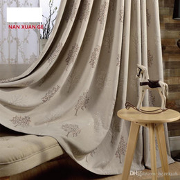 Modern Living Products Australia - Customized Korean modern curtain living room finished products All blackout cotton and jacquard garden curtain bedroom