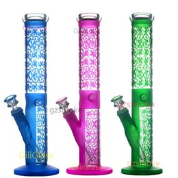 ice catcher glass water bong 2020 - 14.5 inch Glass Beaker bong smoking pipe hookahs oil rigs Bongs Glass water pipes ice catcher stickers dab rig Straight