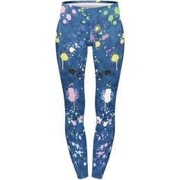 Yoga Pant Pattern Free UK - 3D Digital Printing Leggings Art Research Leggings Cropped Pants Fit Woman Elastic Waist Band Trousers Lady Skinny Yoga Pants