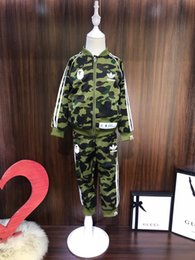 $enCountryForm.capitalKeyWord Australia - 2019 kids pants set kids clothes boys tracksuits green Round neck camouflage Sweatshirt casual pants 2pcs suit baby boy Clothes ff-2