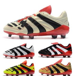 03fb72c84b74 2019 Soccer Boots Predator Accelerator Electricity FG 98 Classic Football  Boots Soccer Cleats Size US6.5-US11
