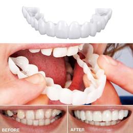 Новое прибытие 2 шт. продукты зубы идеальный удобный косметические зубы протез улыбка зубы топ виниры для женщин мужчины