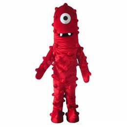 Best movie dresses online shopping - 2019 Factory sale Best Muno Mascot Costume From Yo Gabba Gabba Dress Adult Size