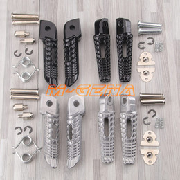 motorcycle rear foot pegs 2020 - For GSR400 GSR600 GSXR600 GSXR750 GSXR1000 GSX1300R GSXR1300 B-king Motorcycle Front Rear Footrests Foot pegs cheap moto