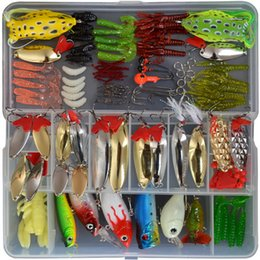 Mix Fishing Lures Crank Australia - 129PCS Fishing Lures Set Mix Poper Crank Minnow Pencil Lures For Fishing With Box Fishing Tackle