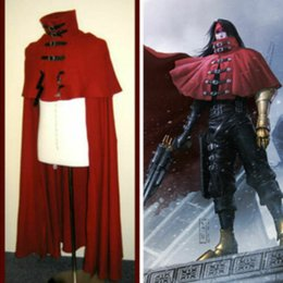 fantasy male costumes Canada - New Vincent Valentine cosplay Red Cloak Cape Final Fantasy VII cosplay costume