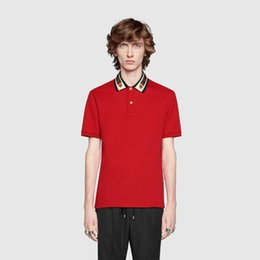 8355f8d3b G Clothes Australia - ss19 Italy Cotton polo with Web and feline head men  tiger Striped