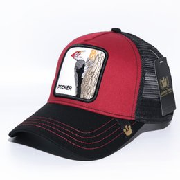 baseball caps manufacturers Australia - 2019 Fashion Mesh Baseball Cap Unisex Lovely Animals Caps Fine Embroidery High Quality Version Manufacturer special direct sales
