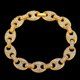 $enCountryForm.capitalKeyWord NZ - Men Hip hop iced out coffee bean shape bracelet Pave Setting Rhinestone CZ Male Hiphop bracelets charm jewelry gifts