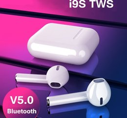 Iphone Ear Australia - TOP Quality Mini i9s TWS Bluetooth Headsets Earbuds Wireless Earphone Headphones Earpiece For Original iphone Ear