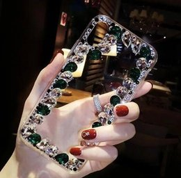 Crystal Clear Phone Cases Australia - New Luxury Bling Crystal Rhinestone Phone Cases for iPhone X 8 8Plus 6 6s Plus 7 7Plus Clear Hard Back Case Cover