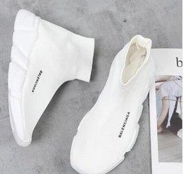 WZM8 descuento Speed Trainer Botas Calcetines de punto de estirado-top del alto de la zapatilla de deporte del instructor zapatos baratos Negro b Hombre blanco Mujer Parejas Zapatos cargadores ocasionales en venta