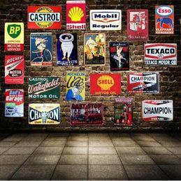 Discount iron art metal craft - Tin Signs Motor Oil Garage Vintage Tin Sign Metal Plate Wall Hotel Pub Home Art Craft Decor Car Iron Poster Cuadros Wall