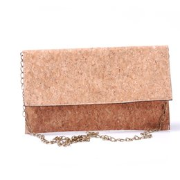 $enCountryForm.capitalKeyWord Australia - Full Cork Crossbody Bag Blanks Women Envelope Fold Clutch Purse Wholesale RTS Sling Shoulder Bag With Bronze Metal Chain DOM964