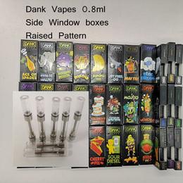 Pen windows online shopping - Dank Vapes M6T10 Vape Cartridges Ceramic Coil ml Press on Tips Vaporizer Pen side window boxes Vape Cartridges