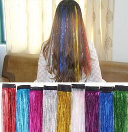 $enCountryForm.capitalKeyWord Australia - 800pcs Colorful Metallic Glitter Tinsel Laser Fibre Hair Wig Hair Extension Accessories Party Stage Wig Festive Supplies