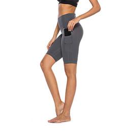 Leggings Sport Pants Canada - Sexy Yoga Knee-Length Pants Women Breathable Mesh Stitching Sports Leggings Female Elastic Fitness Gym Running Pocket Sportwear
